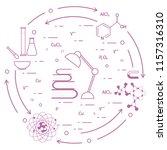 scientific  education elements. ... | Shutterstock .eps vector #1157316310