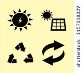 ecological vector icons set.... | Shutterstock .eps vector #1157318329