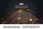 digital earth  dot line...   Shutterstock .eps vector #1157323273