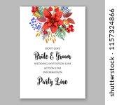 poisettia autumn wedding...   Shutterstock .eps vector #1157324866