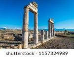 hierapolis ancient city... | Shutterstock . vector #1157324989