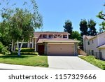 modern two story houses in the ... | Shutterstock . vector #1157329666