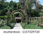 a picturesque view in the rose ... | Shutterstock . vector #1157329720