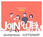 we are hiring concept banner.... | Shutterstock .eps vector #1157334649