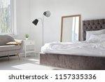 elegant room interior with... | Shutterstock . vector #1157335336