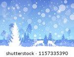 vector winter christmas... | Shutterstock .eps vector #1157335390