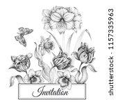 wedding invitations cards... | Shutterstock .eps vector #1157335963