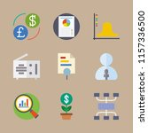 chart vector icons set. growth  ... | Shutterstock .eps vector #1157336500