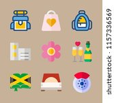 holiday vector icons set.... | Shutterstock .eps vector #1157336569