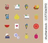 fruit vector icons set. fruits  ... | Shutterstock .eps vector #1157336593