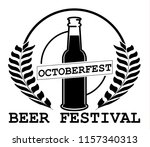 oktoberfest beer festival.... | Shutterstock .eps vector #1157340313