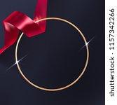 golden beaming ring frame. red... | Shutterstock .eps vector #1157342266