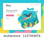 vector flat style illustration... | Shutterstock .eps vector #1157343076