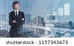modern business concept. smart... | Shutterstock . vector #1157343673