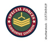 army badge logo with text space ... | Shutterstock .eps vector #1157345419