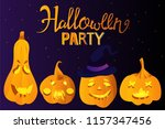 halloween holiday greeting card ... | Shutterstock .eps vector #1157347456