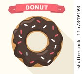 vector icon of a sweet donut in ... | Shutterstock .eps vector #1157349193