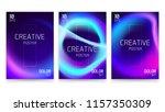 trendy vector fluid gradient a4 ...   Shutterstock .eps vector #1157350309