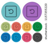 rotate object left darker flat... | Shutterstock .eps vector #1157355220