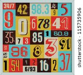 various vintage number... | Shutterstock .eps vector #115735906