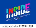 colorful inside out font ... | Shutterstock .eps vector #1157361139