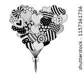 line art of hearted shape...   Shutterstock .eps vector #1157361736
