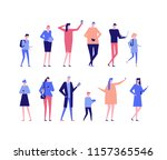 people with gadgets   flat... | Shutterstock . vector #1157365546