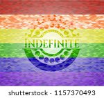 indefinite lgbt colors emblem  | Shutterstock .eps vector #1157370493