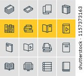 illustration of 16 book icons...   Shutterstock . vector #1157373163