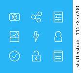 illustration of 9 application... | Shutterstock . vector #1157375200