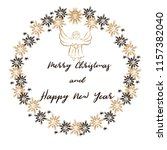 merry christmas and happy new... | Shutterstock .eps vector #1157382040