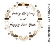 merry christmas and happy new... | Shutterstock .eps vector #1157382043