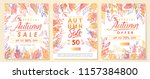 autumn special offer banners... | Shutterstock .eps vector #1157384800