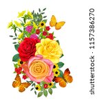 flower composition. a bouquet... | Shutterstock . vector #1157386270