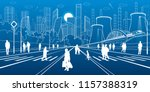 urban city infrastructure... | Shutterstock .eps vector #1157388319
