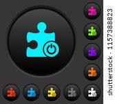 switch on off plugin dark push... | Shutterstock .eps vector #1157388823