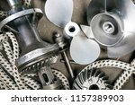 boat propeller speed boat made... | Shutterstock . vector #1157389903