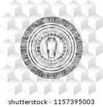 dead man in his coffin icon... | Shutterstock .eps vector #1157395003