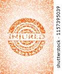 injured orange mosaic emblem | Shutterstock .eps vector #1157395039