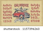 illustration of vintage red... | Shutterstock . vector #1157396263