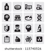 vector black science icon set... | Shutterstock .eps vector #115740526