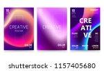 trendy vector fluid gradient a4 ... | Shutterstock .eps vector #1157405680