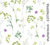 watercolor summer seamless... | Shutterstock . vector #1157405956