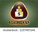 shiny badge with man working... | Shutterstock .eps vector #1157407246