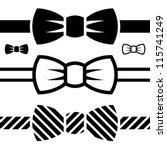 vector bow tie black symbols | Shutterstock .eps vector #115741249