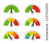 speed meter icons set on white... | Shutterstock .eps vector #1157413453
