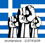 flag of greece.crisis and... | Shutterstock .eps vector #115741639