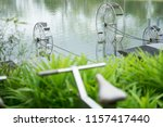 hydraulic turbines transfer the ... | Shutterstock . vector #1157417440