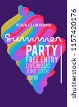 night party banner template for ...   Shutterstock .eps vector #1157420176
