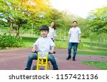 asian family enjoyed outdoor... | Shutterstock . vector #1157421136